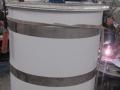 полипропиленовая емкость с мешалкой для горячей воды