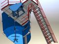 стальная вертикальная емкость с многорядной пропеллерной мешалкой