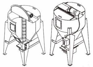 смеситель шнековый вертикальный
