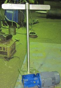лопастная мешалка спрямым приводом от м-редуктора