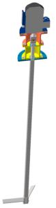 лопастная мешалка с подшипниковым узлом