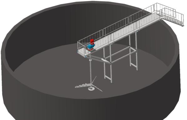 лопастная мешалка для резервуаров и емкостей